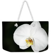 Bright White Orchid Weekender Tote Bag