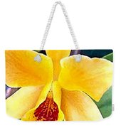 Bright Yellow And Red Cattleya Orchid Weekender Tote Bag