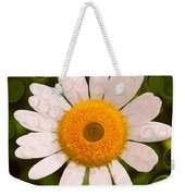 Bright Yellow And White Daisy Flower Abstract Weekender Tote Bag