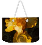 Bright Yellow Bearded Iris Flower Abstract Weekender Tote Bag