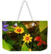 Bright Yellow Flowers Weekender Tote Bag