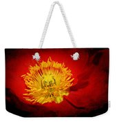 Bright Yellow Poppy Center Weekender Tote Bag