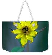 Bright Yellow Wildflower Weekender Tote Bag