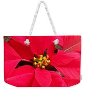 Brightest Red Poinsettia Weekender Tote Bag