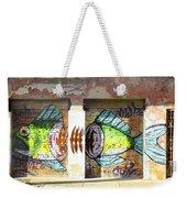 Brightly Colored Fish Mural Weekender Tote Bag