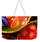Brightly Painted Bowls At A Market - Mexico - Travel Photography By David Perry Lawrence Weekender Tote Bag