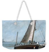 Brighton Beach With Fishing Boats Weekender Tote Bag
