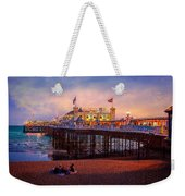 Brighton's Palace Pier At Dusk Weekender Tote Bag