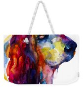 Brilliant Basset Hound Watercolor Painting Weekender Tote Bag