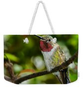 Brilliant Color Of The Ruby-throated Hummingbird Weekender Tote Bag