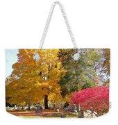 Brilliant Colors In The Cemetery  Weekender Tote Bag
