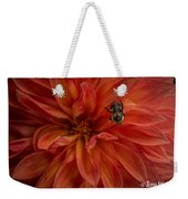 Brilliant Red Dahlia Weekender Tote Bag