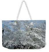 Brilliant Snow Coated Tree Weekender Tote Bag