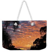 Brilliant Sunset During Winter Weekender Tote Bag