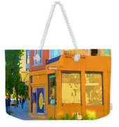 Bring Your Own Wine Restaurant Vents Du Sud Rue Roy Corner French Cafe Street Scene Carole Spandau Weekender Tote Bag