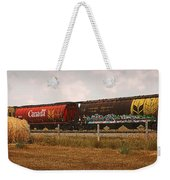Bringing In The Wheat Canadian Railroad Weekender Tote Bag