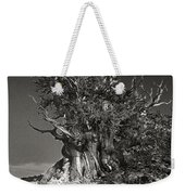 Bristlecone And Wildflowers In Black And White Weekender Tote Bag
