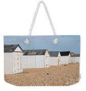 British Beach Huts In Sussex Weekender Tote Bag
