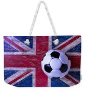 British Flag And Soccer Ball Weekender Tote Bag