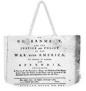 British Pamphlet, 1776 Weekender Tote Bag
