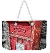 British Post Box Weekender Tote Bag by Adrian Evans