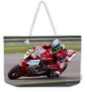 British Superbike Rider Barry Burrell   Weekender Tote Bag