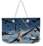 British Supermarine Spitfires Attacking Weekender Tote Bag