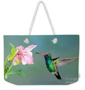 Broad-billed Hummingbird At Flower Weekender Tote Bag