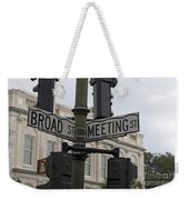 Broad Street And Meeting Street Charleston South Carolina Weekender Tote Bag
