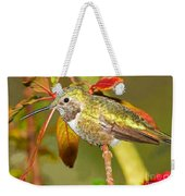 Broad Tailed Hummingbird Weekender Tote Bag