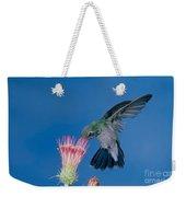 Broadbill Hummingbird Feeding At Flower Weekender Tote Bag