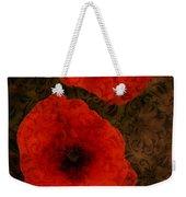 Brocade Textured Poppies Weekender Tote Bag