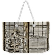 Broken Blinds At The Train Station By Diana Sainz Weekender Tote Bag