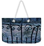 Broken Iron Fence By Old House Weekender Tote Bag
