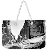 Broken Wall Bw Weekender Tote Bag