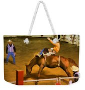 Bronc Bucking Out The Gate Weekender Tote Bag