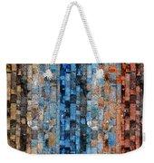 Bronze Blue Wall Weekender Tote Bag