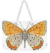 Bronze Copper Butterfly Weekender Tote Bag