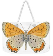 Bronze Copper Butterfly Weekender Tote Bag
