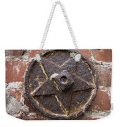 Bronze Star Attached To Brick Weekender Tote Bag