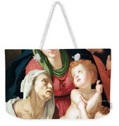 Bronzino's The Holy Family Weekender Tote Bag