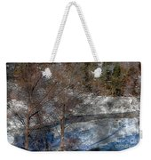 Brook And Bare Trees - Winter - Steel Engraving Weekender Tote Bag
