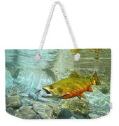 Brook Trout And Artificial Fly Weekender Tote Bag