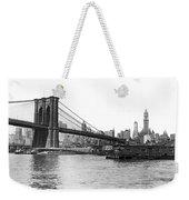 Brooklyn Bridge And Ny Skyline Weekender Tote Bag