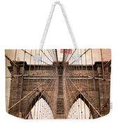 Brooklyn Bridge Approach Weekender Tote Bag