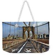 Brooklyn Bridge At Dusk Weekender Tote Bag