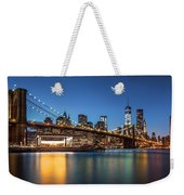 Brooklyn Bridge At Dusk Weekender Tote Bag