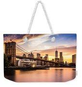 Brooklyn Bridge At Sunset  Weekender Tote Bag