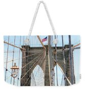 Brooklyn Bridge Cables Weekender Tote Bag