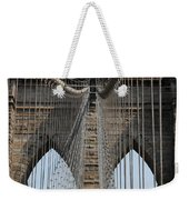 Brooklyn Bridge Cables Nyc Weekender Tote Bag